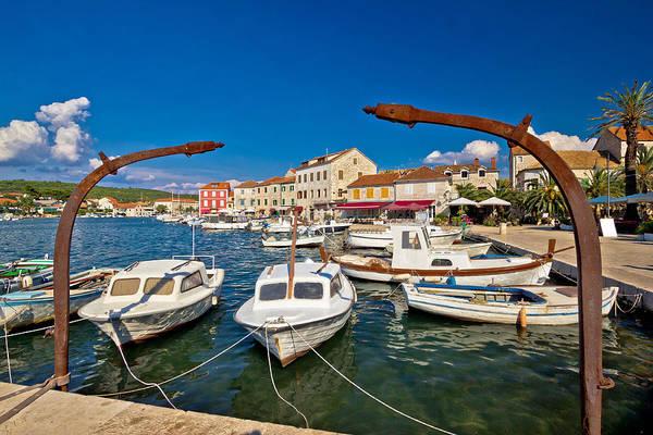 Starigrad Photograph - Old Harbor Of Stari Grad Hvar Island by Brch Photography