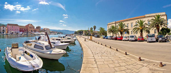 Starigrad Photograph - Old Harbor Of Stari Grad Town by Brch Photography