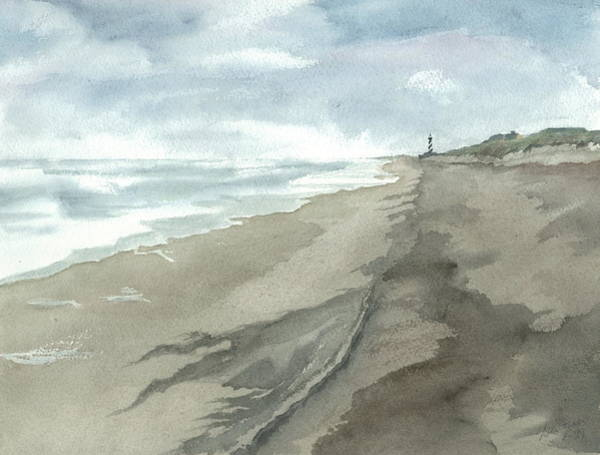 Outer Banks Painting - Old Hatteras Light by Joel Deutsch
