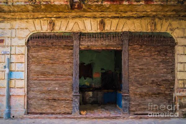 Photograph - Old Havana Bar by Les Palenik