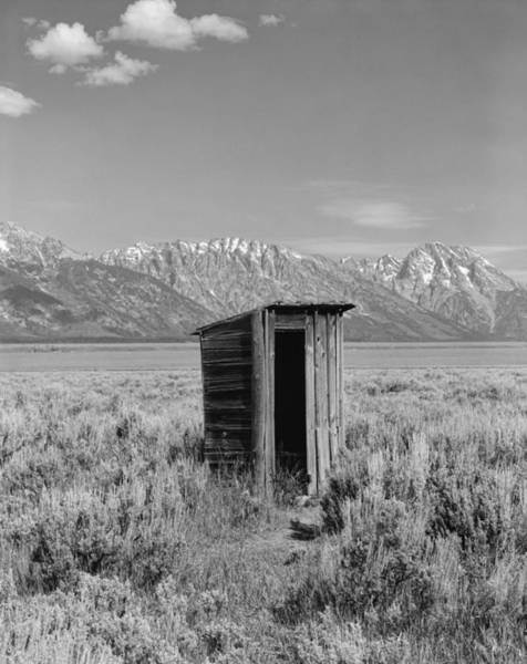 Wall Art - Photograph - Old Homestead Outhouse - Teton County Wyoming by Daniel Hagerman
