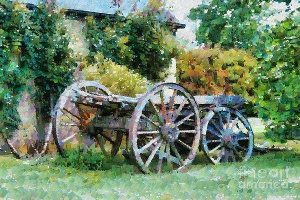 Digital Art - Old Horse Cart by Fran Woods