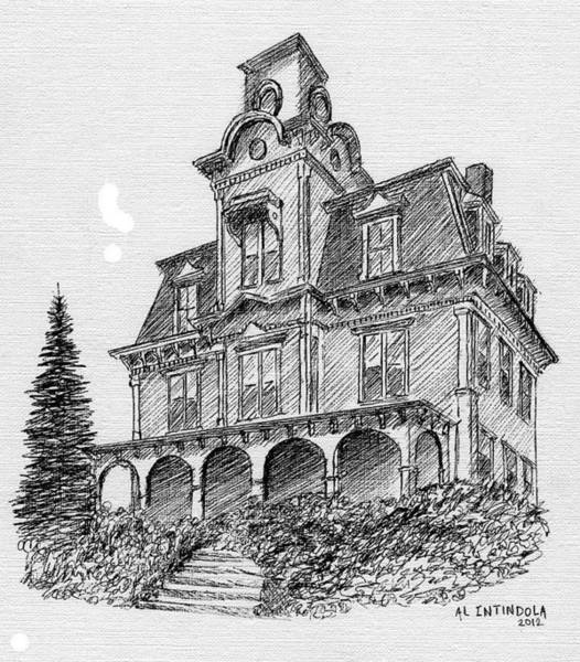 Front Porch Drawing - Old House by Al Intindola