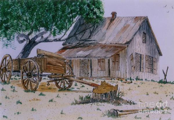 Wall Art - Painting - Old House by Don Hand