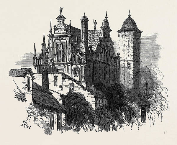 Old Style Drawing - Old House Gdansk Poland 1869 by Polish School