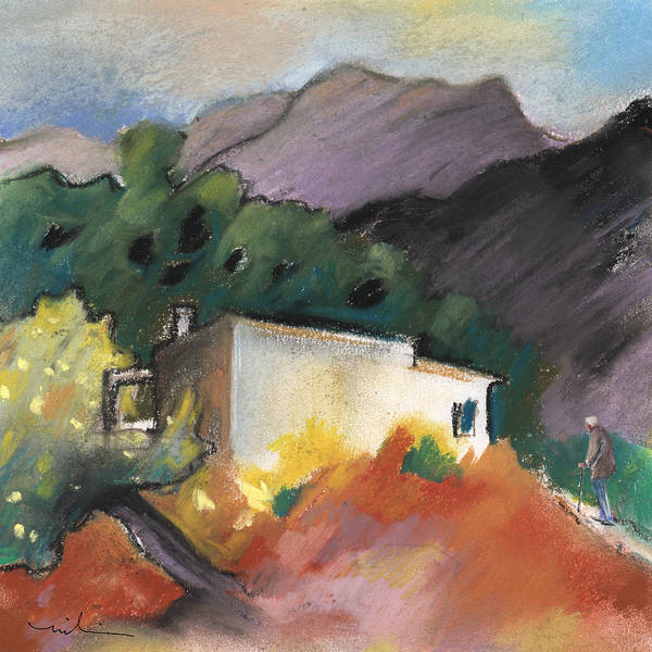 Benidorm Wall Art - Painting - Old House In Altea La Vieja 02 by Miki De Goodaboom