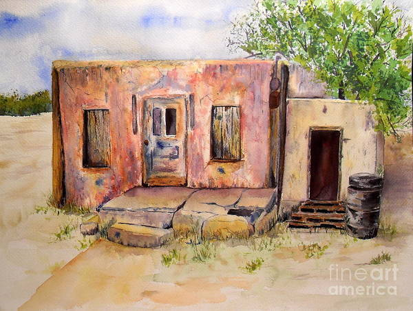 Clovis Painting - Old House In Clovis Nm by Vicki  Housel