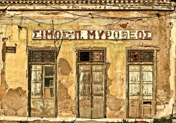 Wall Art - Photograph - Old House In Greece by Jean Schweitzer
