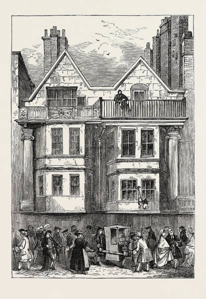 Old Style Drawing - Old Houses In Fleet Street Near St by English School