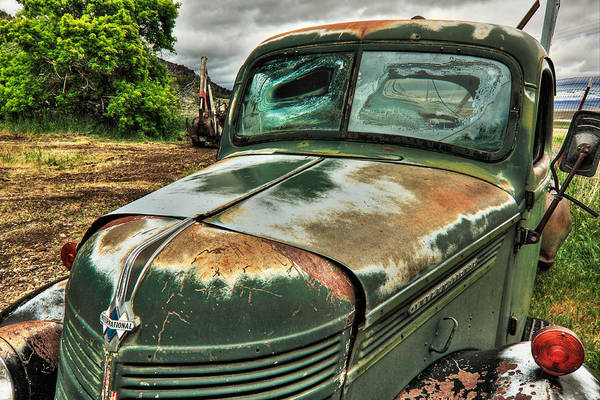 Photograph - Old International Truck by James Eddy