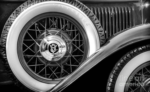Photograph - Old Jag In Black And White by Michael Arend