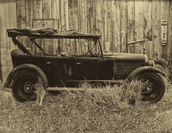Clunker Wall Art - Photograph - Old Jalopy Behind The Barn by Thomas Woolworth