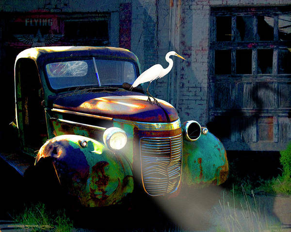 Old Chevy Truck Painting - Old Jimmy by Patrick J Osborne