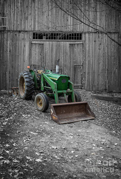 Tractor Photograph - Old Tractor By The Barn Etna New Hampshire by Edward Fielding