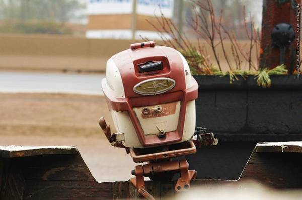 Photograph - Old Johnson Outboard by Al Fritz