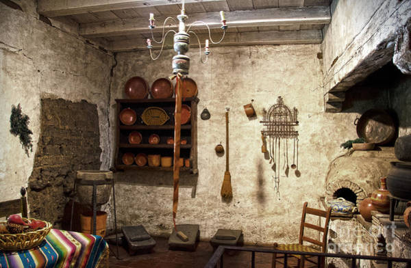 Photograph - Old Kitchen In Carmel Mission by RicardMN Photography