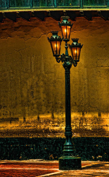 Photograph - Old Lima Street Lamp by Mary Jo Allen