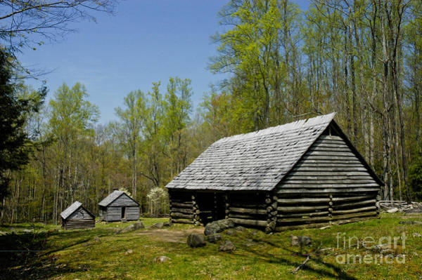 Wall Art - Photograph - Old  Log Barn by Paul W Faust -  Impressions of Light