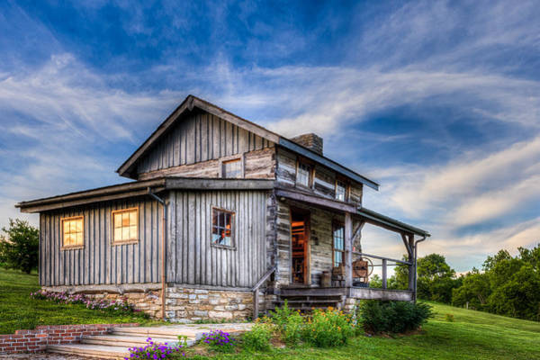 Photograph - Old Log Cabin by Keith Allen