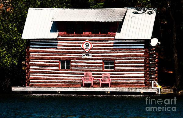 Photograph - Old Log Cabin by Les Palenik