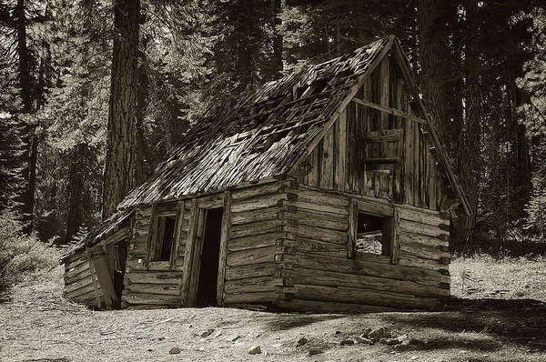 Photograph - Old Log Cabin by Sherri Meyer