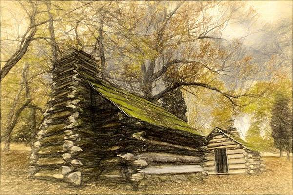 Photograph - Old Log Cabins by Alice Gipson