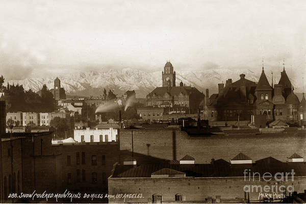Photograph - Old Los Angeles California  City Hall Circa 1895 by California Views Archives Mr Pat Hathaway Archives