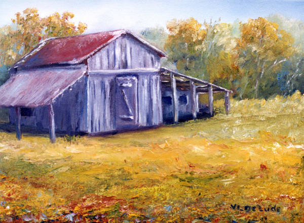Painting - Old Louisiana Barn In Pasture Landscape by Lenora  De Lude