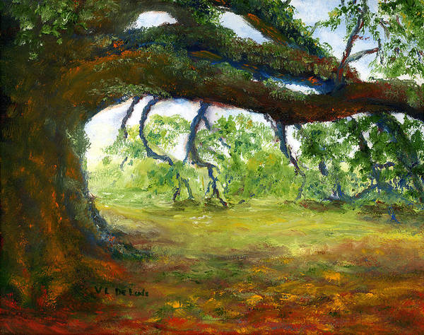 Painting - Old Louisiana Plantation Oak Tree by Lenora  De Lude
