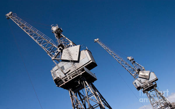 Photograph - Old Luffing Cranes by Rick Piper Photography