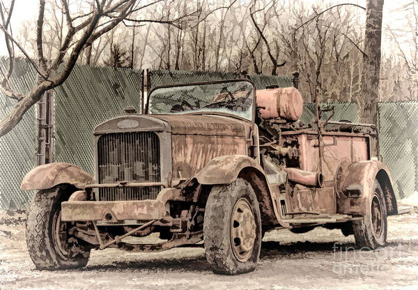 Photograph - Old Mack Fire Pumper by Jim Lepard