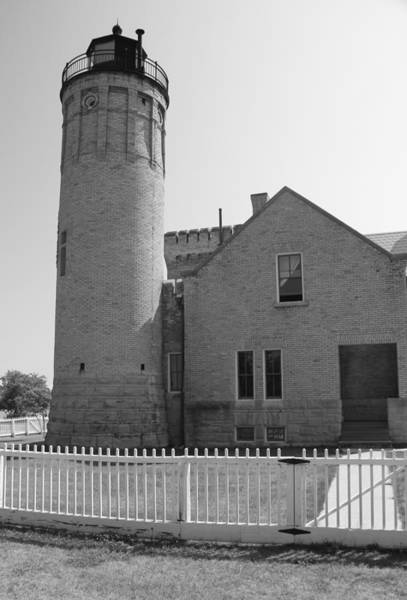 Michilimackinac Wall Art - Photograph - Old Mackinac Point Light by Dan Sproul
