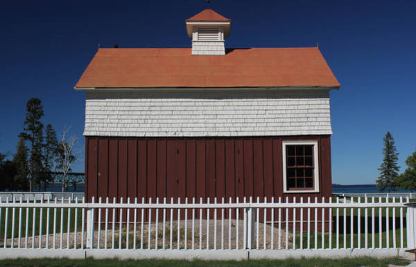 Michilimackinac Wall Art - Photograph - Old Mackinac Point Lighthouse Barn 3 by Mary Bedy