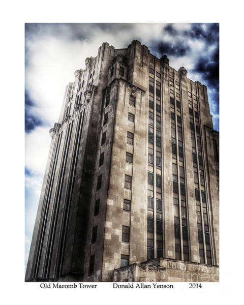 Mount Clemens Photograph - Old Macomb Tower by Donald Yenson