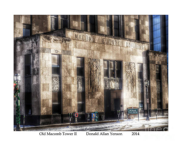 Mount Clemens Photograph - Old Macomb Tower II by Donald Yenson