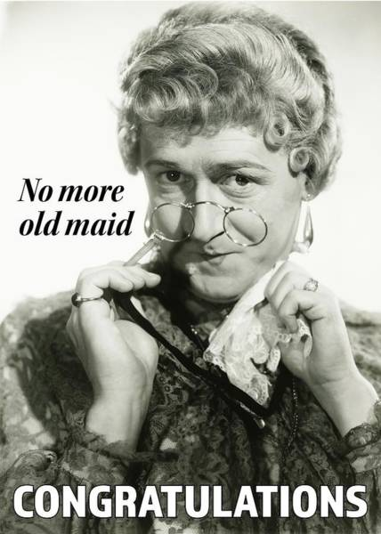 Wall Art - Photograph - Old Maid Greeting Card by Everett