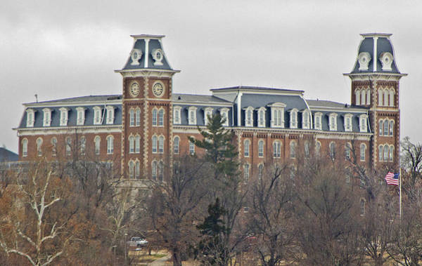 Fayetteville Photograph - Old Main by Iris Page