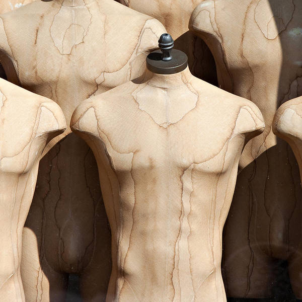 Dress Form Photograph - Old Male Dress Forms by Art Block Collections