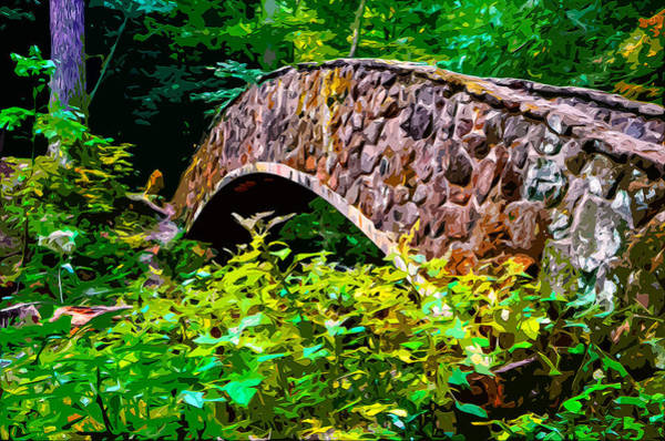 Woodland Park Mixed Media - Old Man's Cave Bridge 2 by Brian Stevens