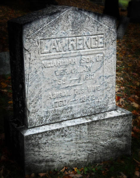 Photograph - Old Marble Gravestone by Maggy Marsh