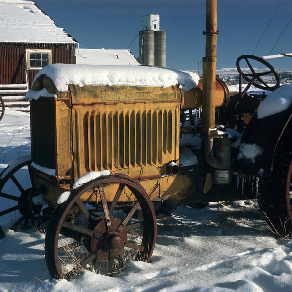 Mccormick Photograph - Old Mccormick Deering Tractor Sitting by Vintage Images