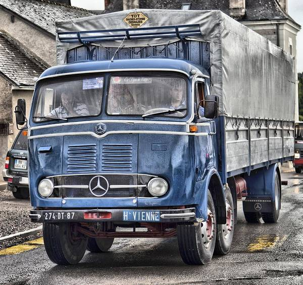 Freightliner Wall Art - Photograph - Old Mercedes Truck by Mick Flynn