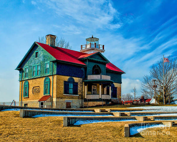 Photograph - Old Michigan City Light by Nick Zelinsky