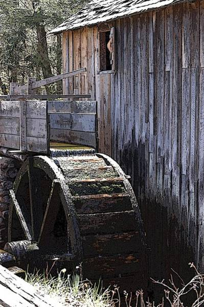 Digital Art - Old Mill Art01 by Donald Williams