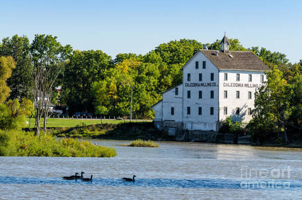 Photograph - Old Mill On Grand River In Caledonia In Ontario by Les Palenik