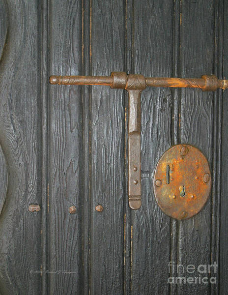 Photograph - Old Missiion Door by Richard J Thompson