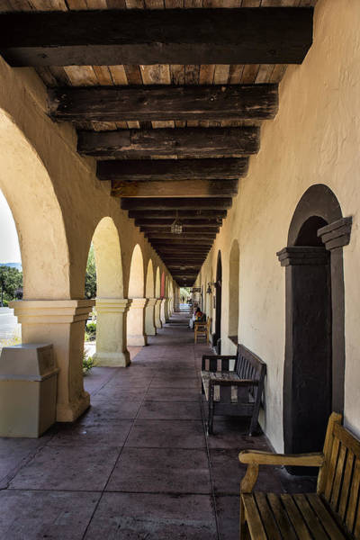Photograph - Old Mission In Santa Barbara Covered Patio by Belinda Greb