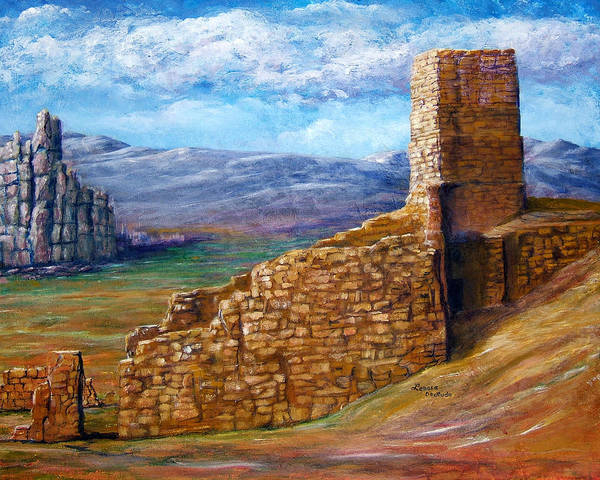 Painting - Old Mission Landscape New Mexico by Lenora  De Lude