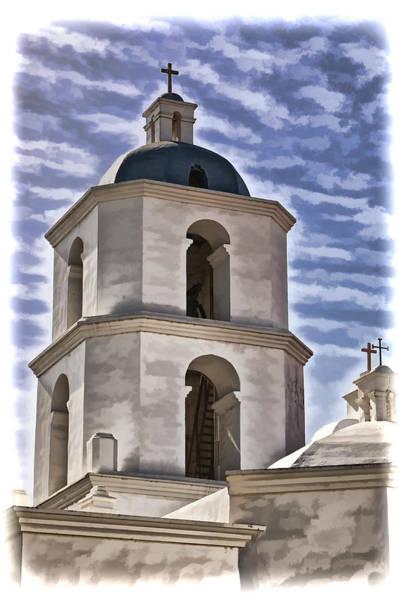 San Luis Rey De Francia Photograph - Old Mission San Luis Rey Tower - California by Jon Berghoff
