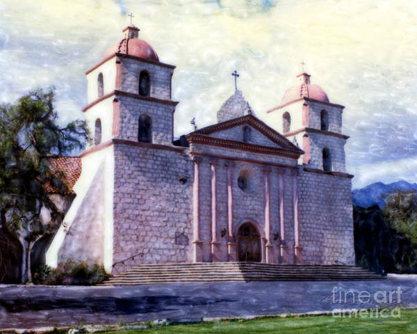 Mixed Media - Old Mission Santa Barbara by Glenn McNary